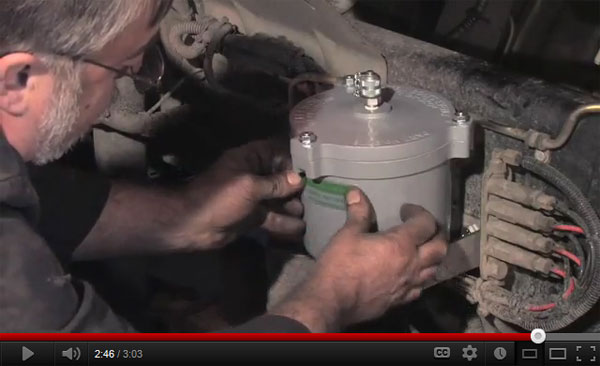 How to install Kleenoil on a Mercedes Engine